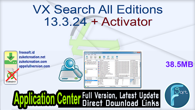 VX Search All Editions 13.3.24 + Activator