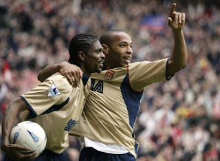 Kanu & Bergkamp made football easy for me at Arsenal than in Barcelona says Gunners legend Henry