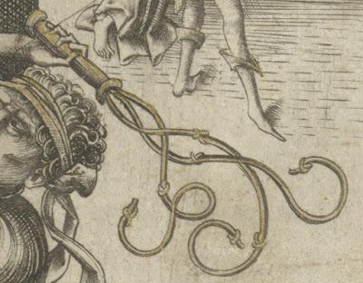 flagelacion de cristo azote latigo medieval grabado israel meckenem