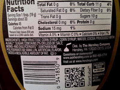 Most chocolate syrups are made out of corn syrup.