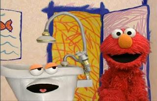 Elmo and the bathtub talk about taking a bath. Sesame Street Elmo's World Bath Time Interview