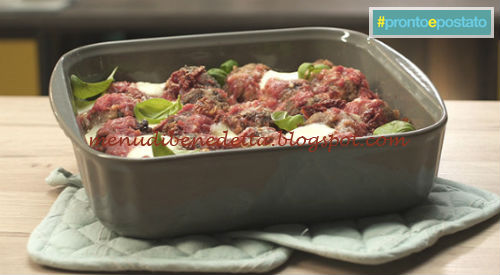 Pronto e postato - Polpette al sugo infornate ricetta Benedetta Parodi