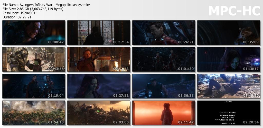 capturas pelicula Avengers Infinity War latino