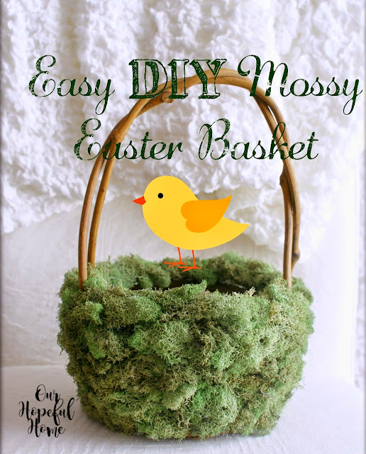 grapevine moss covered Easter basket
