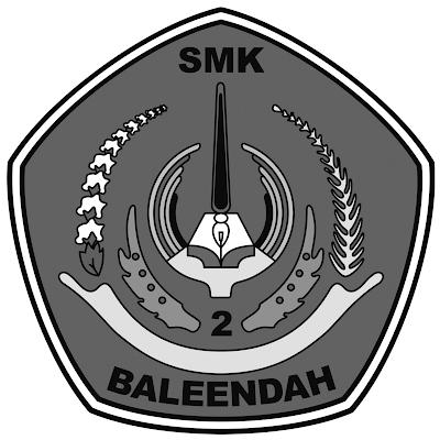 logo SMKN2 BALEENDAH Hitam Putih  PNG