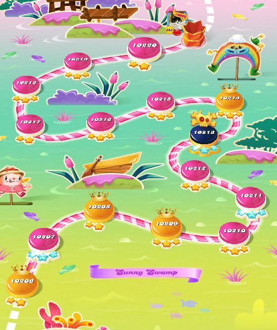 Candy Crush Saga level 10206-10220
