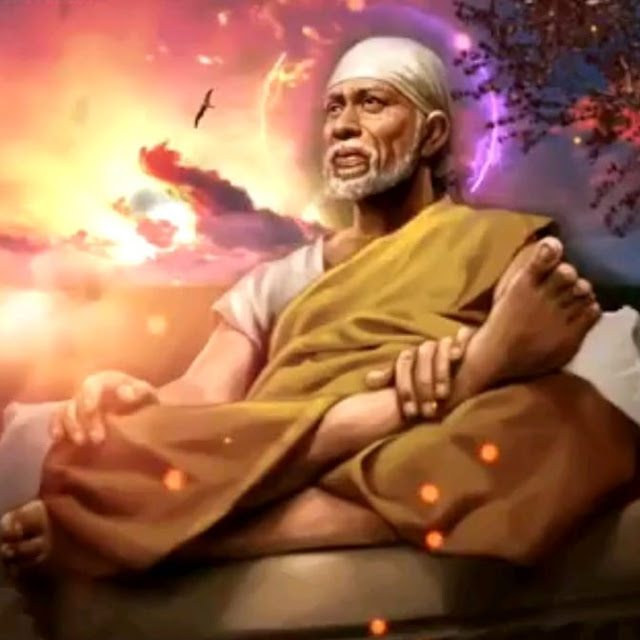 sitting pose sai baba images 2020