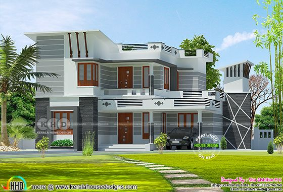 Decorative style 1700 square feet modern home