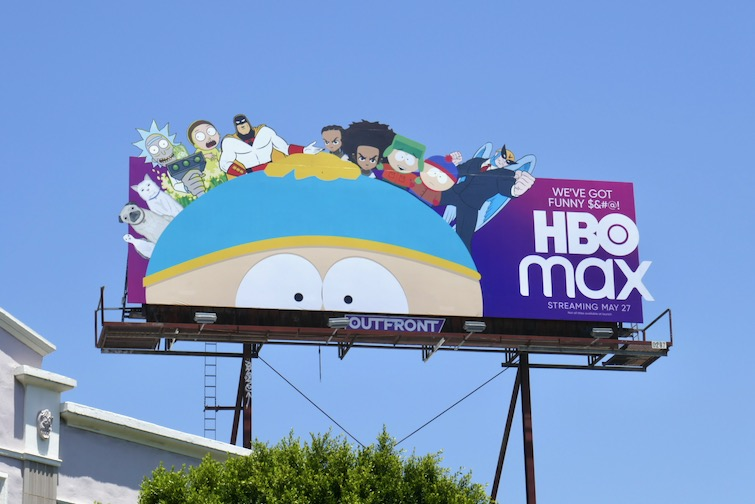 HBO Max adult animation extension billboard