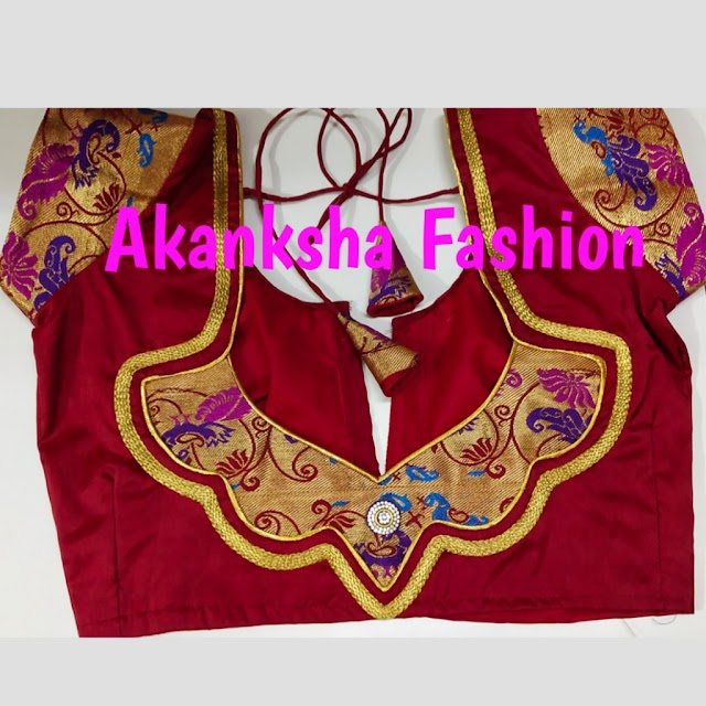 पैठानी ब्लाउज डिजाइन / Paithani blouse design cutting and stitching