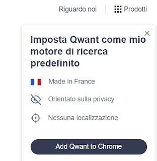 motore ricerca qwant