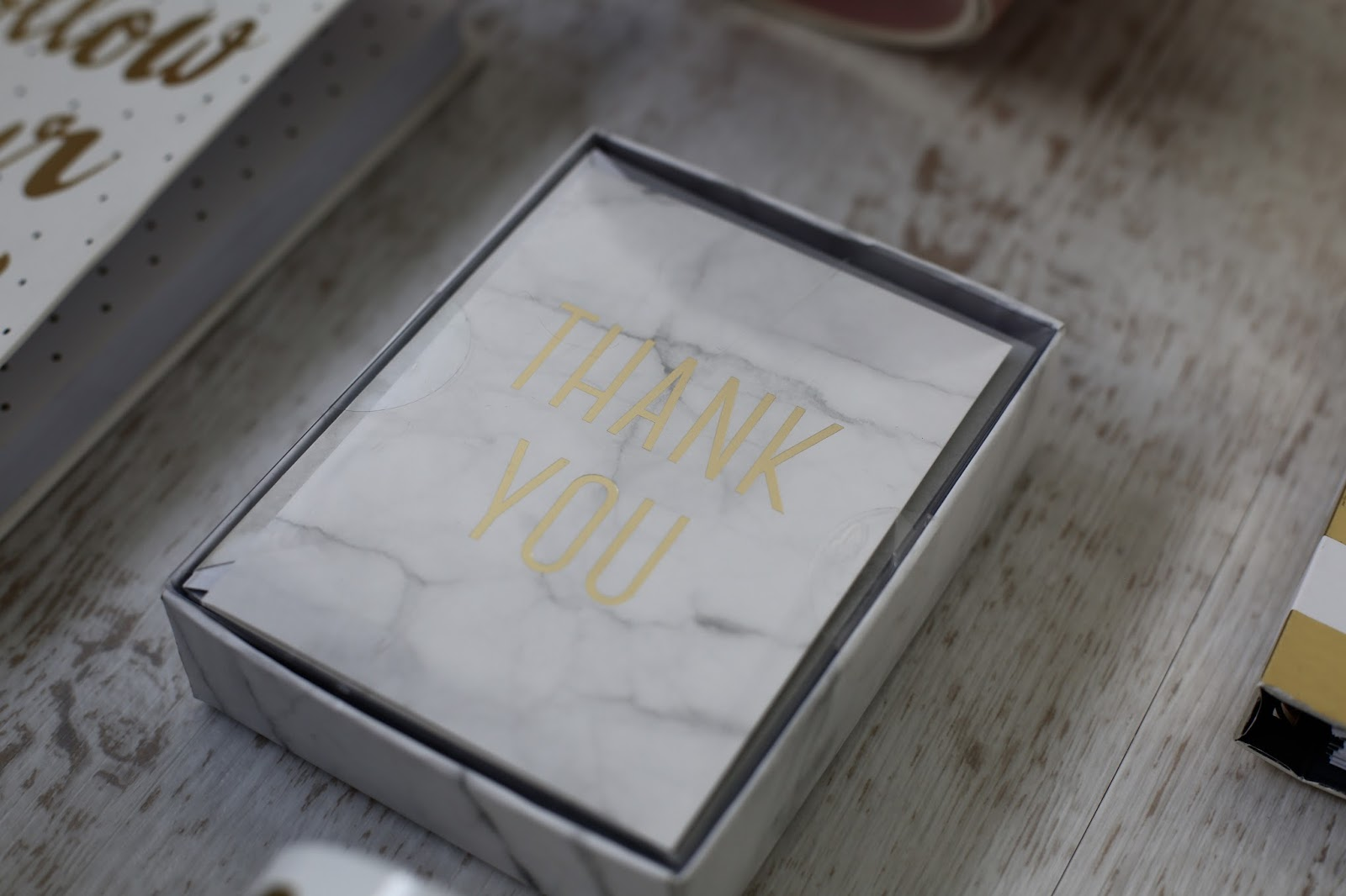 marble thank you cards