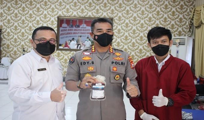 Bantu Ketersediaan Stok Darah di Banten, TNI-Polri dan PMI Gelar Kegiatan Donor Darah