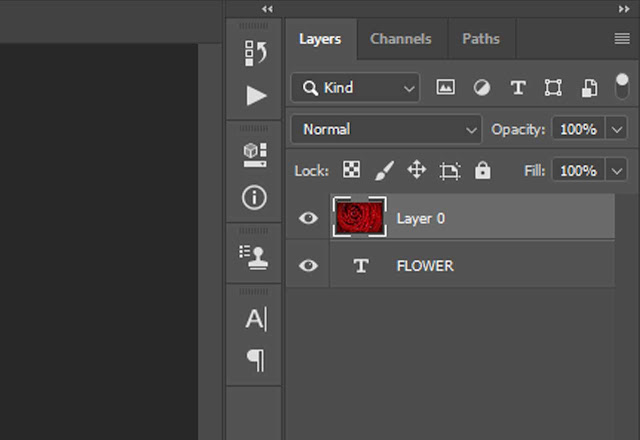 Rose Layer in photoshop