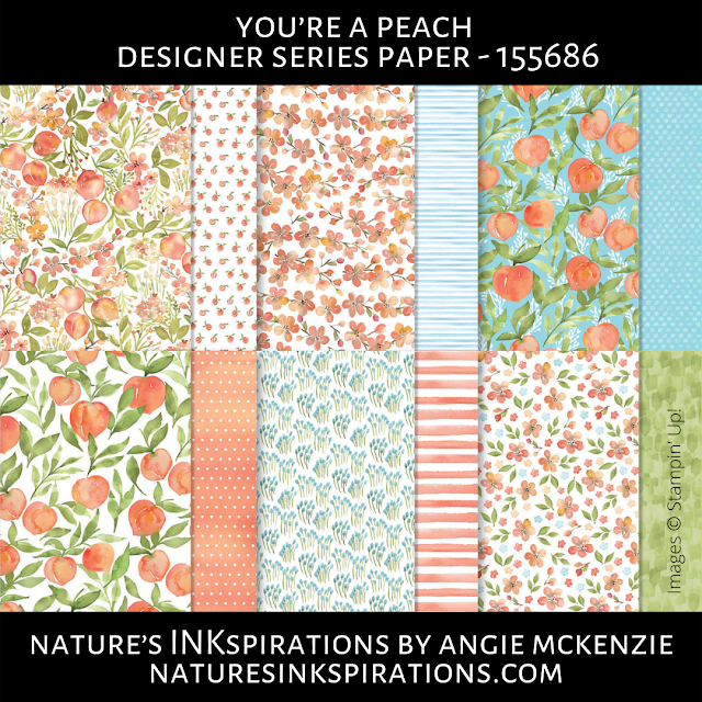 You're a Peach Designer Series Paper | Nature's INKspirations by Angie McKenzie