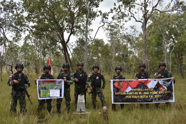Demi NKRI, Satgas Yonif 611/Awang Long laksanakan Patroli Batok Batas Walau Dilanda Hujan Lebat