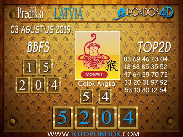 Prediksi Togel LATVIA POOLS PONDOK4D 03 AGUSTUS 2019