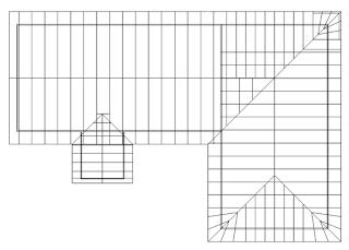Hasil gambar untuk denah atap