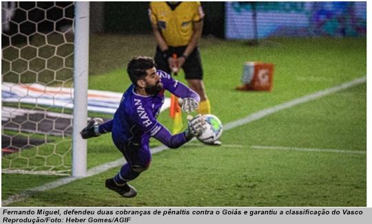 www.seuguara.com.br/Fernando Miguel/Vasco/Copa do Brasil 2020/