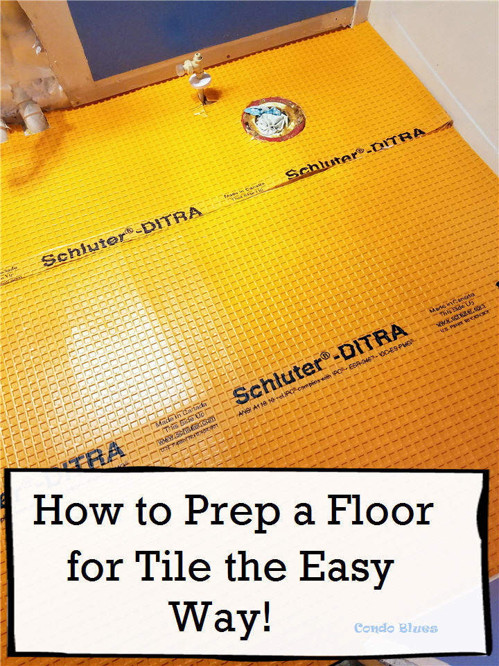 how to prep a wood subfloor for new tile