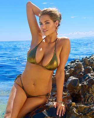 Golden Bikini Harley Berry di Pantai