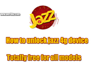 How to unlock jazz 4g device