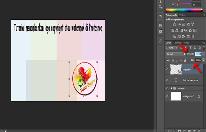 Cara Membuat Gambar Menjadi Watermark Di Photoshop Tutorimaru S Tutorial