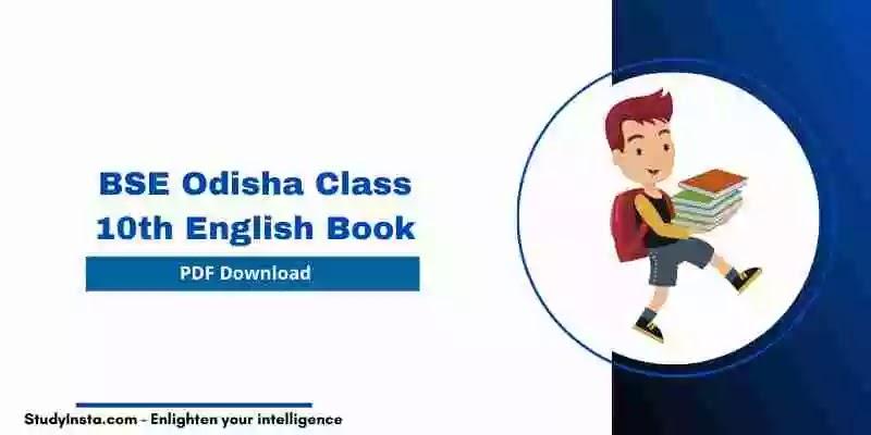 BSE Odisha 10th Class English Book - PDF Download 2021