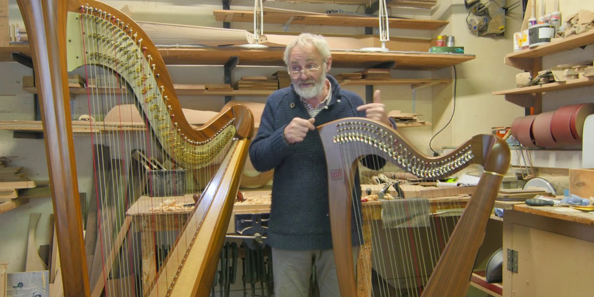 Celtic Harp Instrument