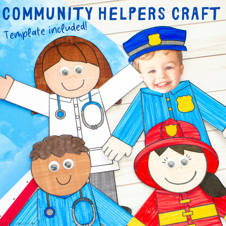 Community helpers craft (template included)