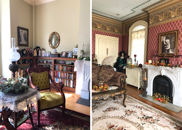 The rooms of the Guardian Angel Bed and Breakfast charm with Victorian elements and artifacts.