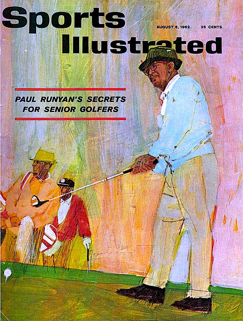a Bernie Fuchs illustration for Sports Illustrated Magazine August 2 1962, about golf