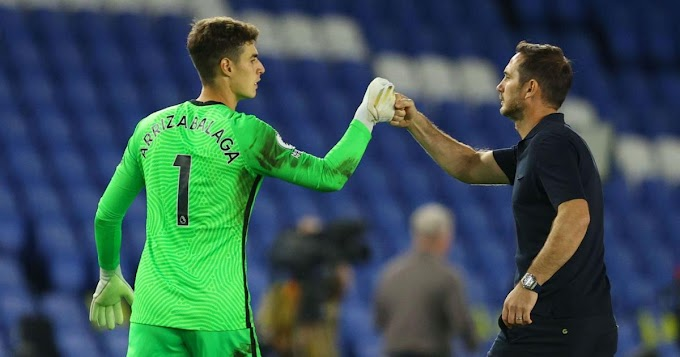 Kepa with another unwelcome outside box goal blunder in Chelsea vs Brighton