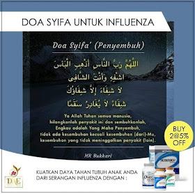 Doa Minta Elak dan Dijauhkan Segala Penyakit Wabak Influenza