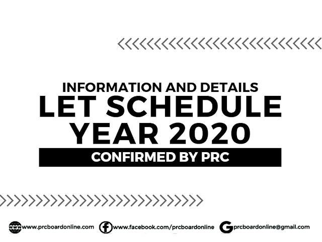 Licensure Exam for Teachers (LET) 2020 Schedule & Details