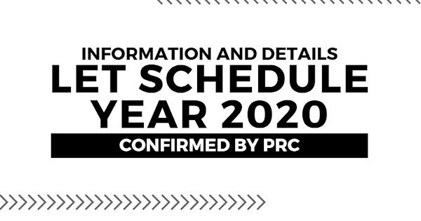 Licensure Exam for Teachers (LET) 2020 Schedule & Details