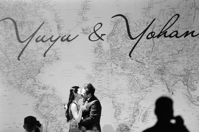 modern travel themed wedding