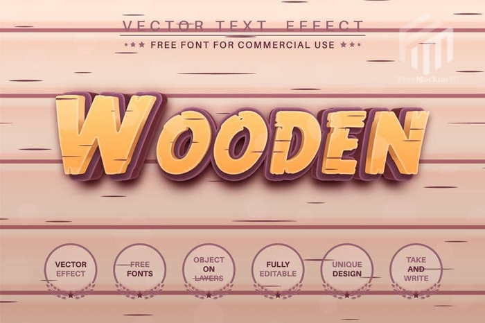 Wood Craftsmans Editable Text Effect Font Style