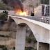 Φωτιά σε λεωφορείο στην Εγνατία Οδό[video]