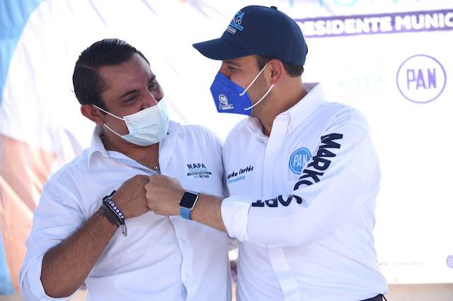 Pide Marko Cortés a yucatecos dar tres votos al PAN para alcaldes y diputados federales y locales