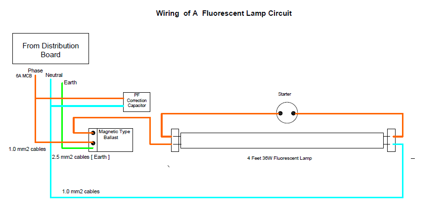 wiring fluorescent lights in parallel diagram lennox heat pump air handler a lamp circuit - electrical engineering books