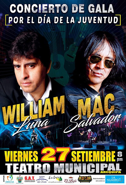 Willian Luna y Mac Salvador en Arequipa