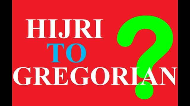 CONVERT HIJRI DATE TO GREGORIAN DATE