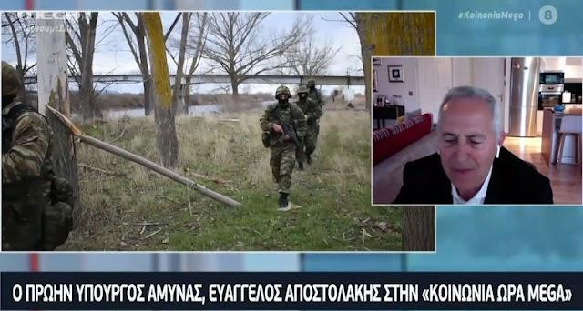 Αποστολάκης στο MEGA: Έχουν ληφθεί τα απαραίτητα μέτρα στα στρατόπεδα (ΒΙΝΤΕΟ)