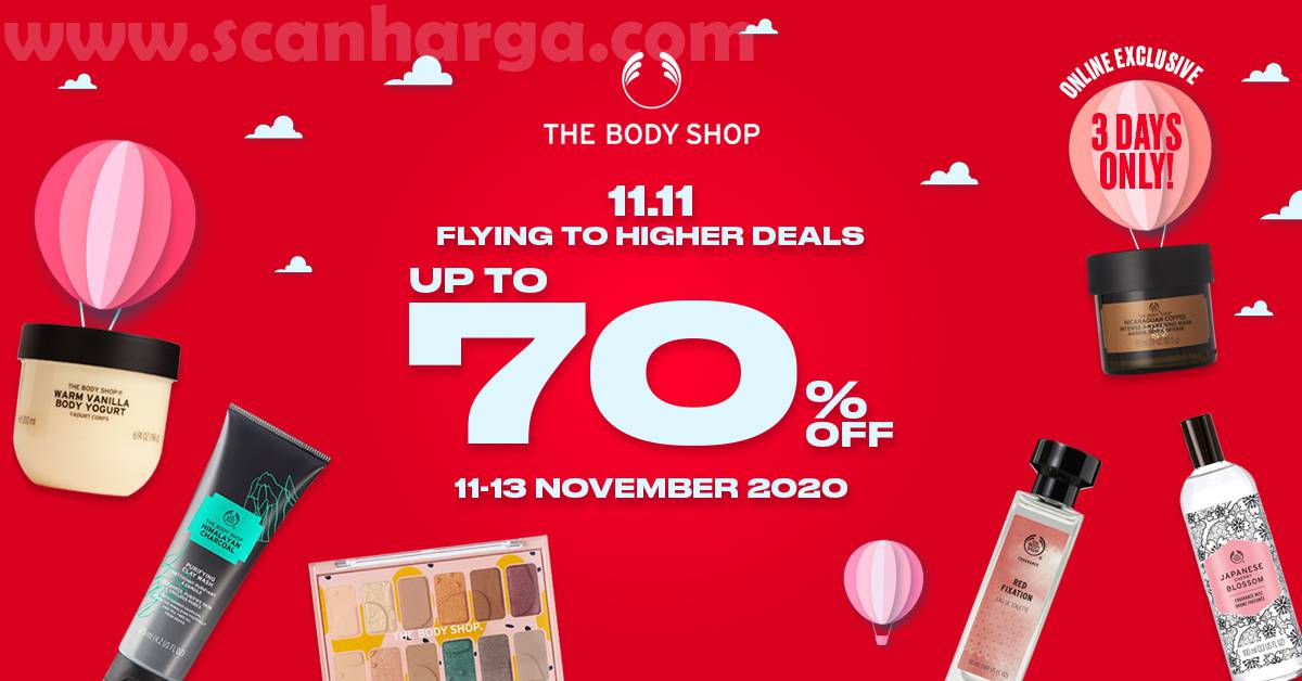 Promo The Body Shop 11.11: Flying to Higher Deals up to 70% off
