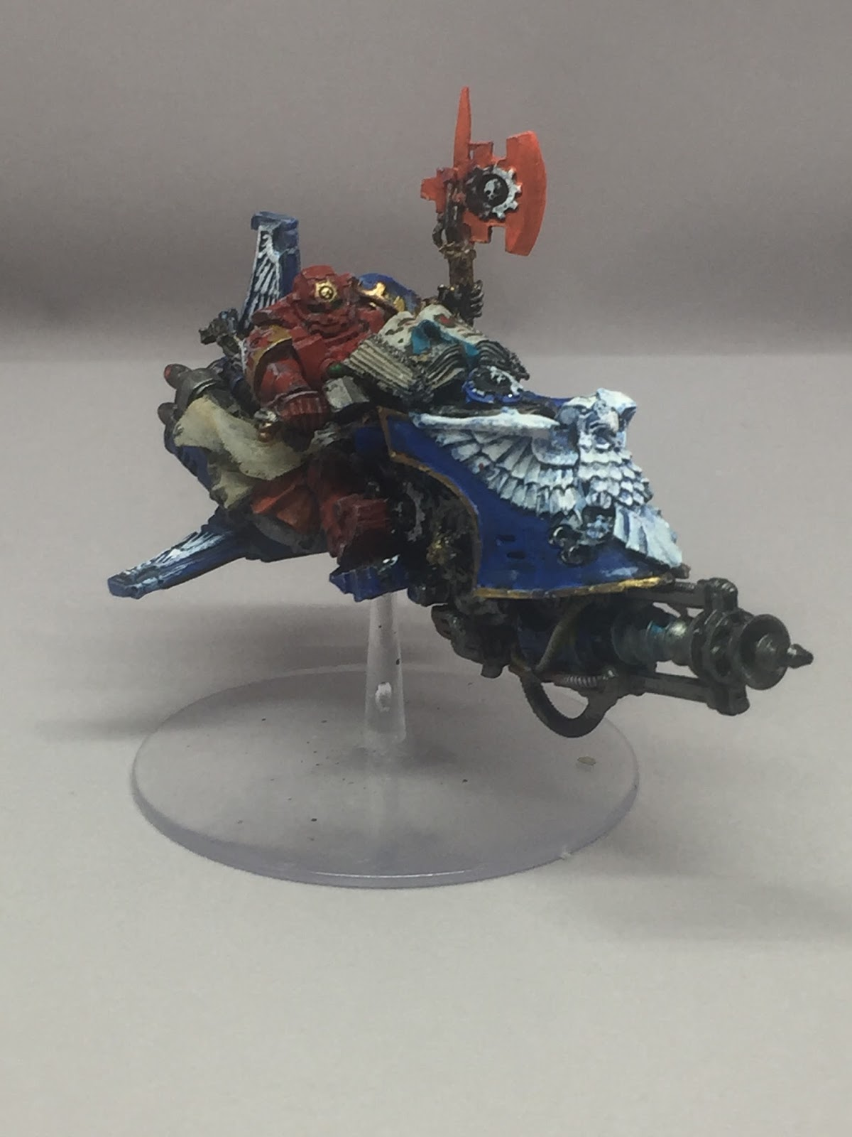 The Jetbike Is Sammael Model With Addition Of A Techmarine Body And Legs In Place Under Slung Plasma Cannon Was Then Cut Away