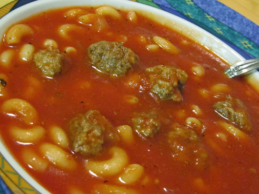 Jenn's Food Journey: Pasta Soup with Little Meatballs