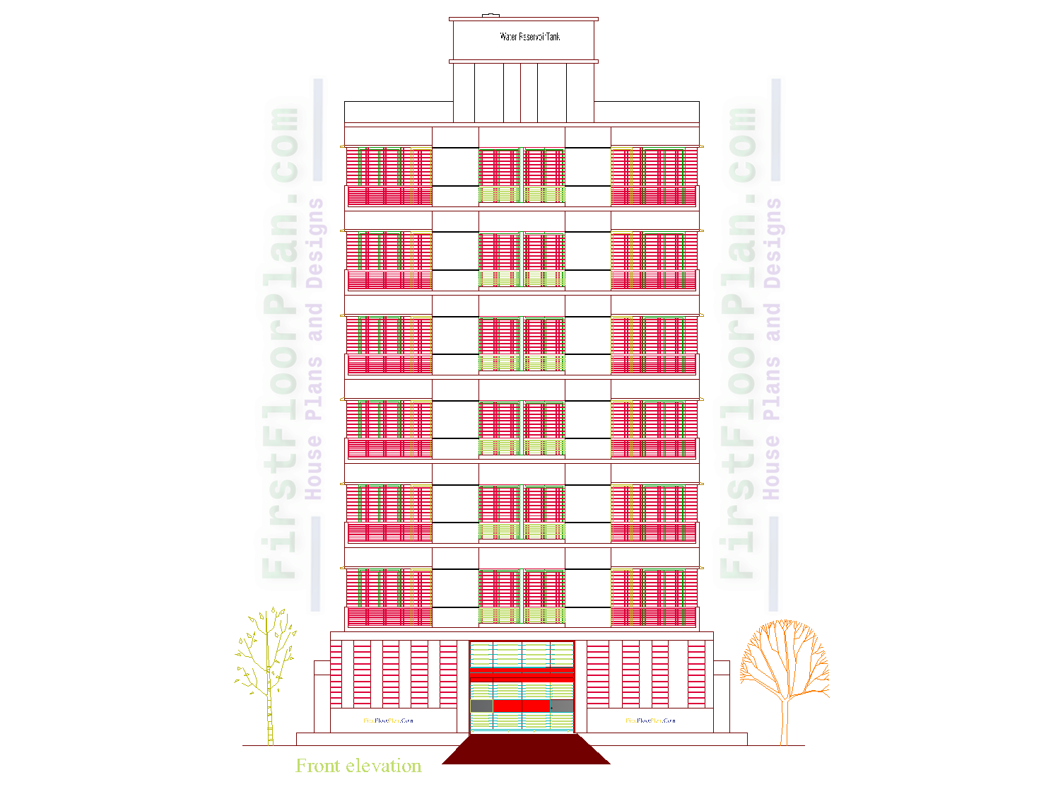 7 Storey Apartment Building Elevation