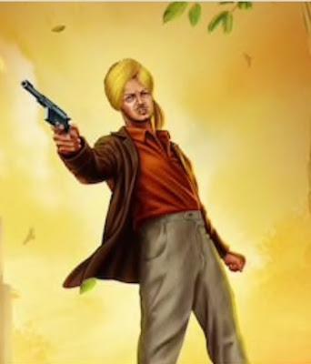 Bhagat Singh in action