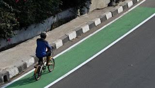 Dishub DKI Siapkan Lajur Sepeda Untuk Warga Berolahraga Akhir Pekan